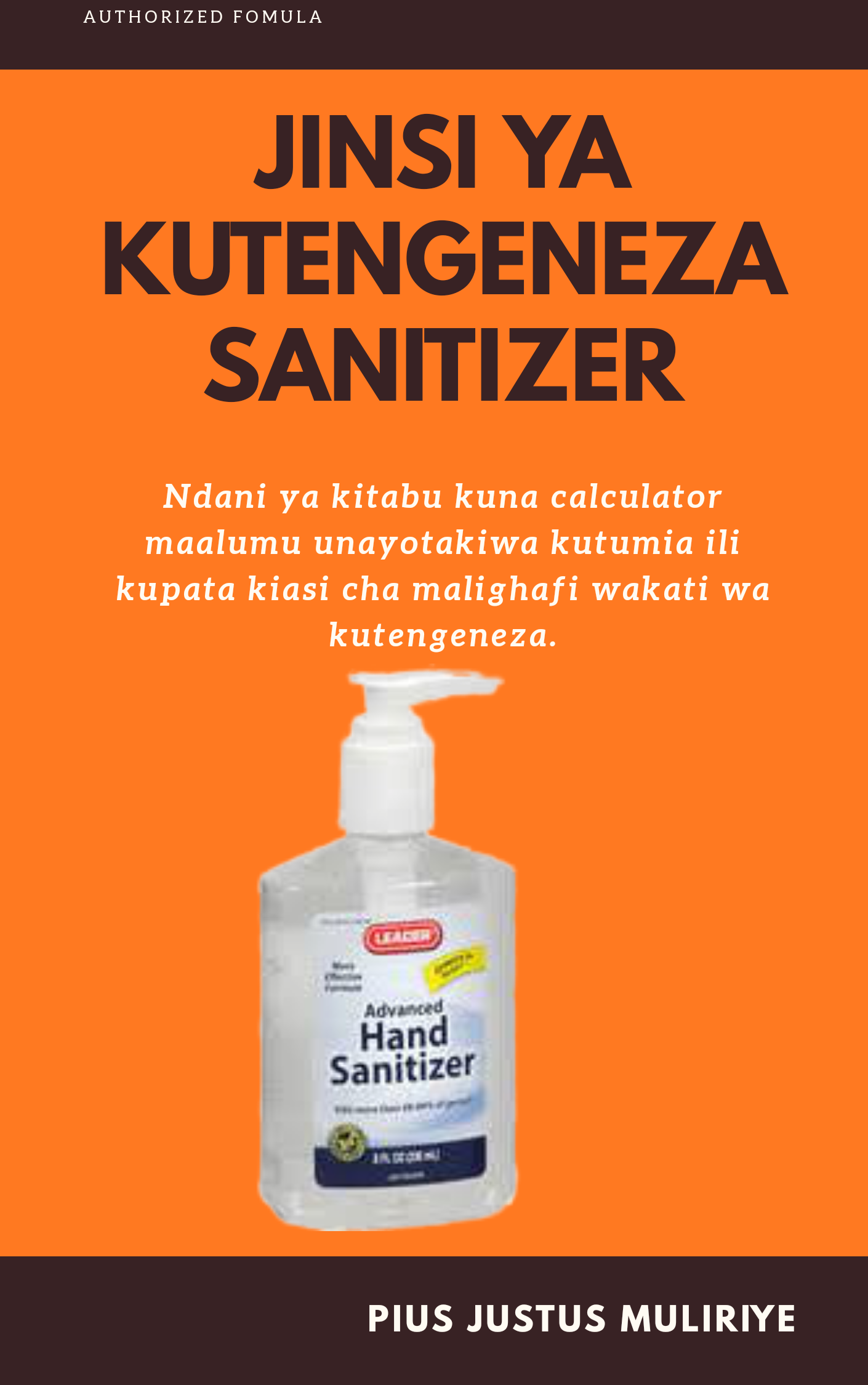 JINSI YA KUTENGENEZA HAND SANITIZER